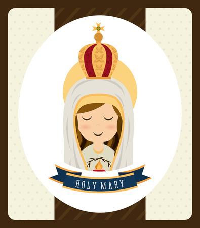 saint mary: holy mary design , vector illustration Illustration