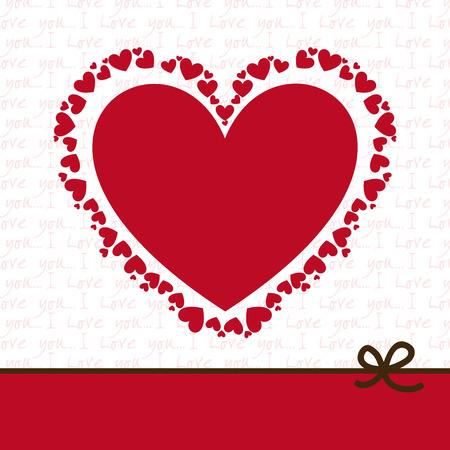 heart love design , vector illustration Illustration