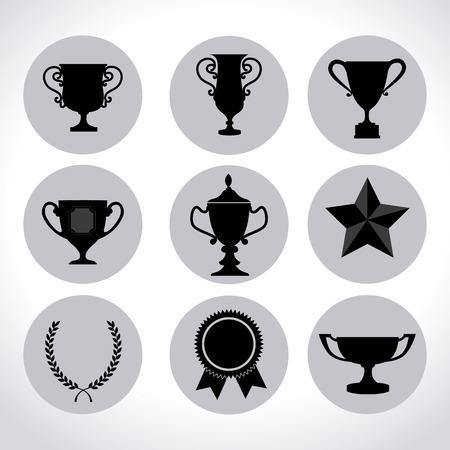 champ: Winner design over white background, vector illustration