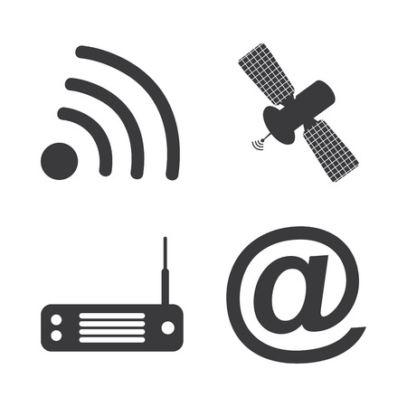electro world: communication graphic design , vector illustration