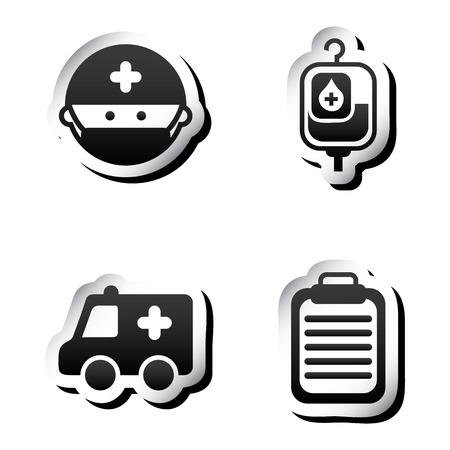 emergency cart: medical graphic design , vector illustration Illustration