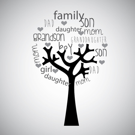 granddad: family tree design , vector illustration