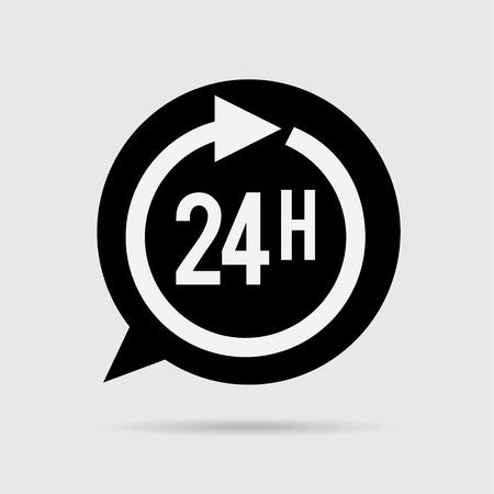 around the clock: 24 hours design vector illustration