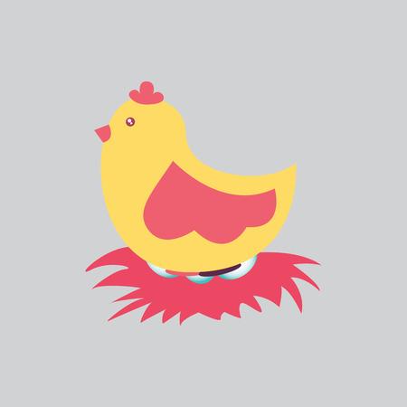 vectore: hen graphic design