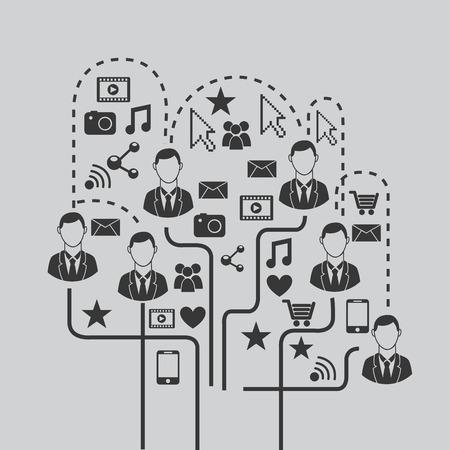 network graphic design , vector illustration Vector
