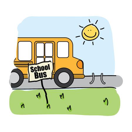 bus school graphic design , vector illustration Vector