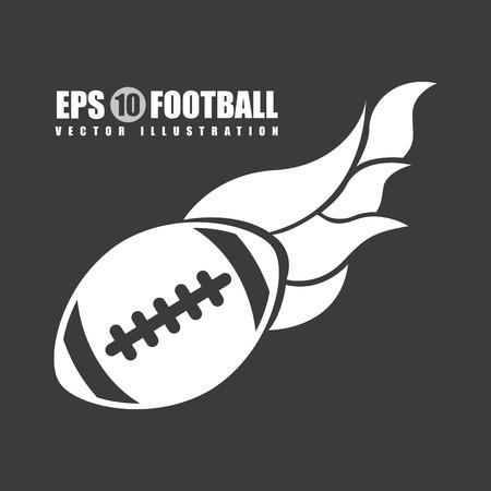 pigskin: football graphic design , vector illustration