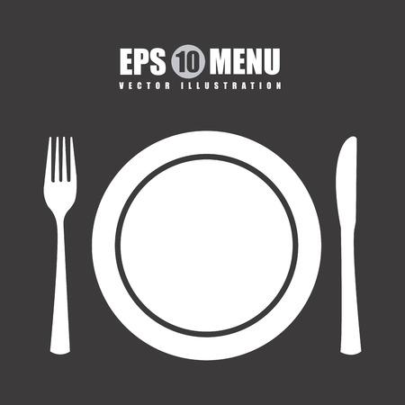 plate: menu graphic design , vector illustration Illustration