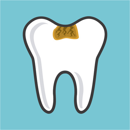 diseño cuidado dental, ilustración vectorial