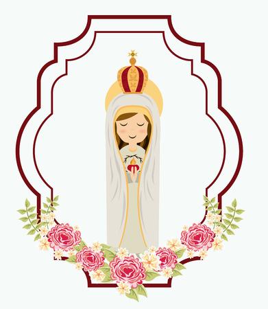 virgen maria: dise�o maria santa, ilustraci�n vectorial
