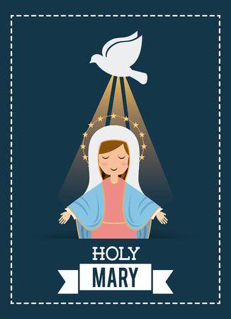 holy mary design , vector illustration Illustration