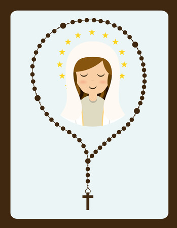 różaniec: święty wzór Maryi, ilustracji wektorowych
