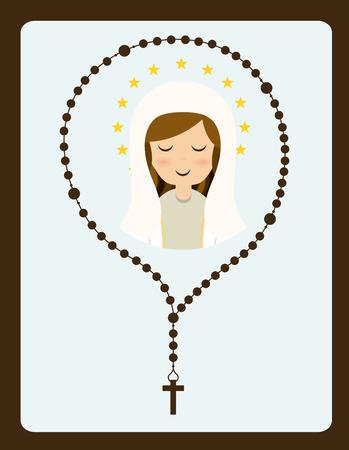 rosary: holy mary design , vector illustration Illustration