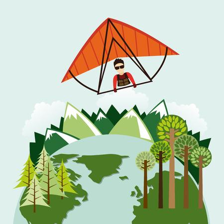 paragliding: paragliding sport design , vector illustration