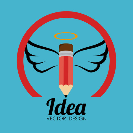 aureole: Idea design over blue background Illustration