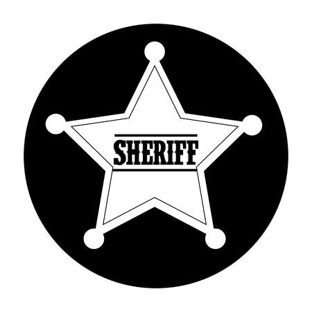 sheriff: Western design over white background, vector illustration