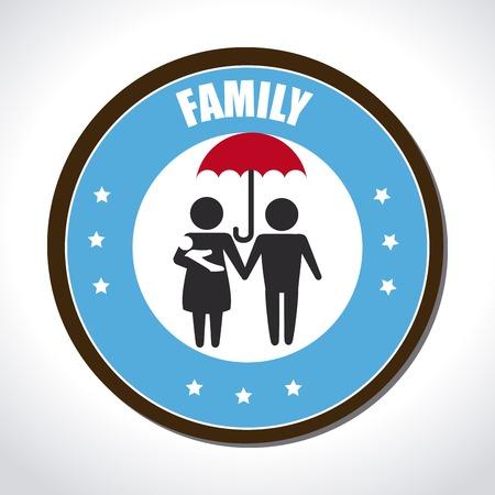 homelike: Family design over beige background, vector illustration