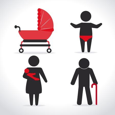 homelike: Family design over white background, vector illustration Illustration