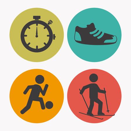 fitness trainer: Sports design over white background, vector illustration