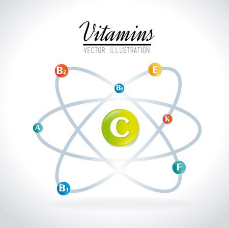 minerals: Vitamins design over white background, vector illustration