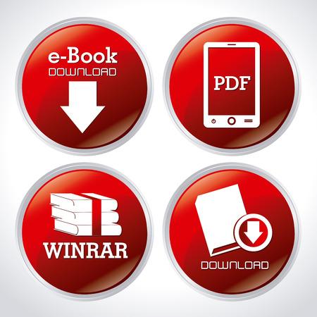 eBook  design over white background, vector illustration Illustration