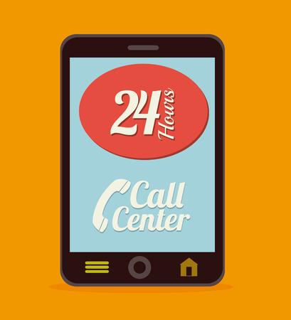 Call center design over white background, vector illustration Illustration