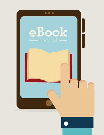 ebook: eBook design over white background, vector illustration