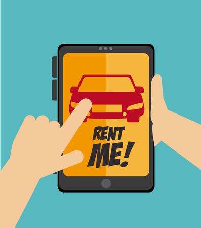 Cars design over blue background, vector illustration Illustration