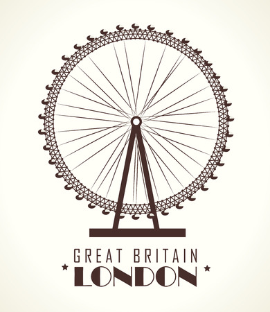 London design over white background, vector illustration