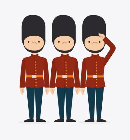 Briten: London Design auf wei�em Hintergrund, Vektor-Illustration