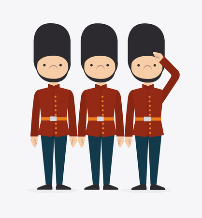 british army: London design over white background, vector illustration