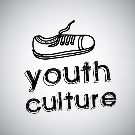 youth culture: youth culture graphic design , vector illustration