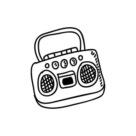 radio graphic design , vector illustration