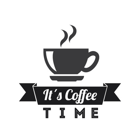 drink coffee: coffee graphic design , vector illustration Illustration