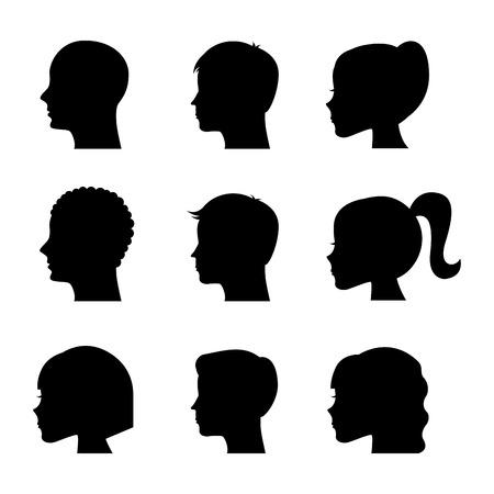 profiles graphic design , vector illustration