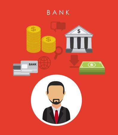 bank graphic design , vector illustration Vector