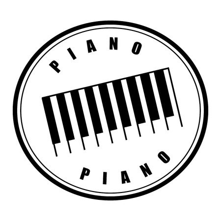 piano graphic design , vector illustration Vector