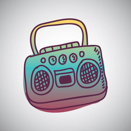 radio graphic design , illustration Illustration