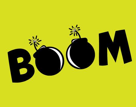 boom graphic design , vector illustration Vector