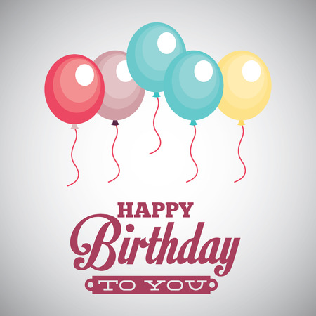 happy birthday text: birthday graphic design , vector illustration
