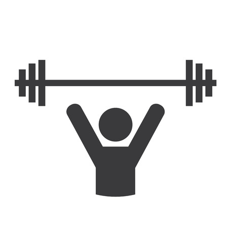 weight lifting graphic design , vector illustration