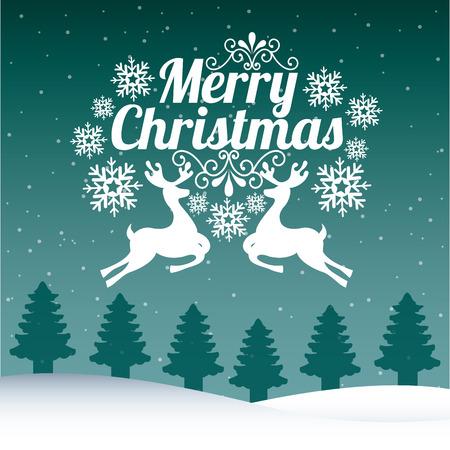 renos de navidad: diseño gráfico de la navidad, ilustración vectorial Vectores