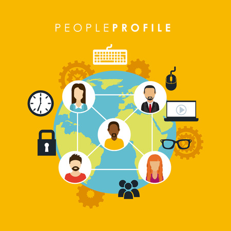 people graphic design , vector illustration Vector