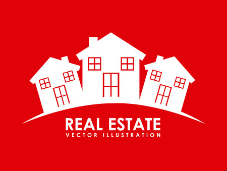 real state graphic design , vector illustration