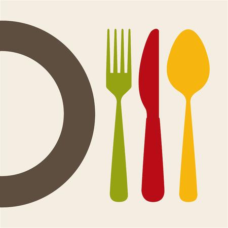 gourmet dinner: cutlery graphic design , vector illustration