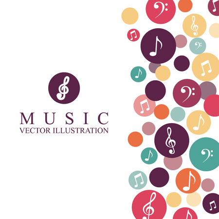 sheet music: music graphic design , vector illustration