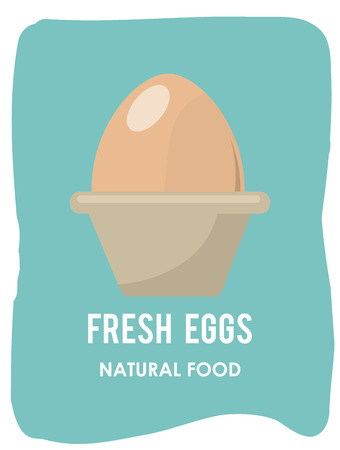 chicken and egg: eggs graphic design , vector illustration Illustration