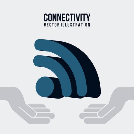 conectividade: conectividade design gráfico, ilustração vetorial