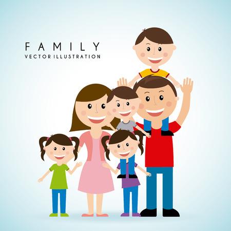 happy family: dise�o gr�fico de la familia, ilustraci�n vectorial