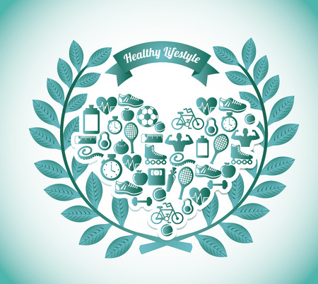 healthy lifestyle graphic design , vector illustration Vector